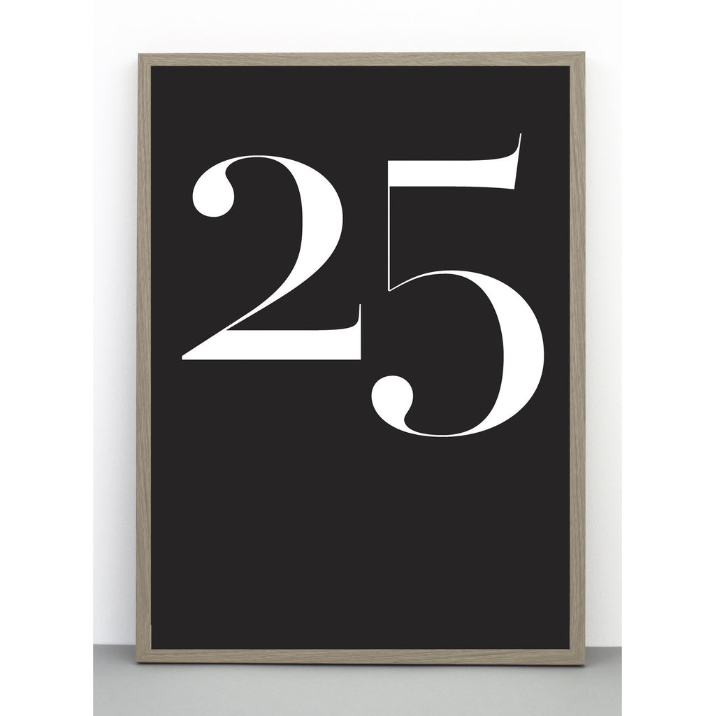Wall print number 25one must dash- Cachette