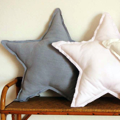 Star cushion made from vintage fabric (8 colours)Plumette- Cachette
