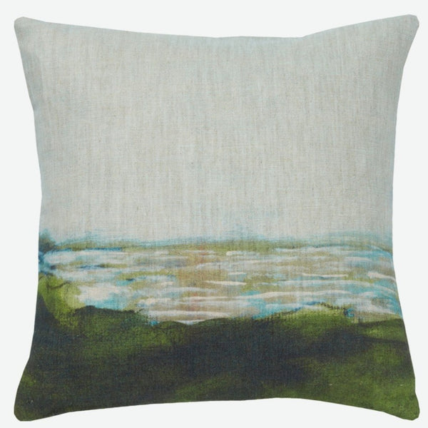"""Au loin"" linen cushion cover square (2 sizes - inner available too)"