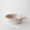 Handmade glazed terracotta salad bowl or decorative bowl  25cm