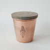 Orange blossom candle in copper and walnut wood tumblerDatcha- Cachette