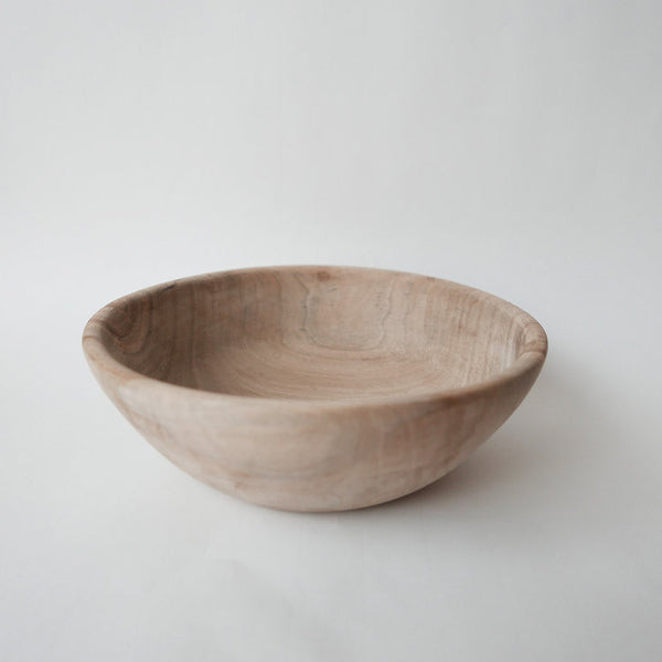 21cm walnut wood salad bowl or decorative bowlDatcha- Cachette