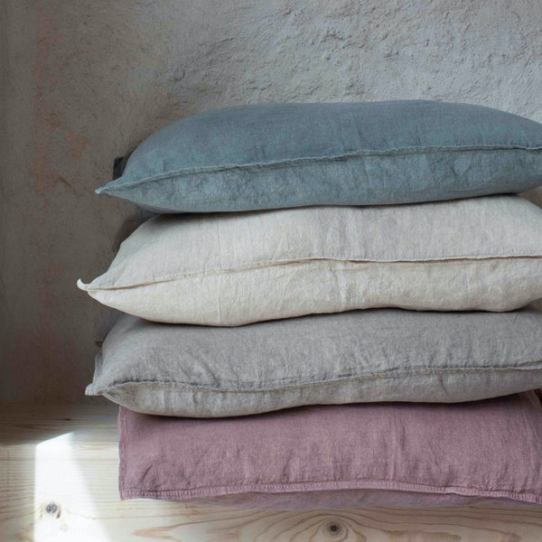 100% linen pillow cases eco-friendly dyes (new)