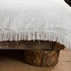 Fringed linen quilt (two sizes available)bed and philosophy- Cachette