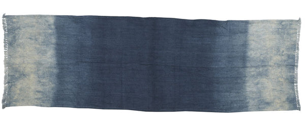 Deep blue linen table runner 45x140cm