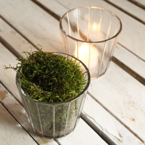 glass candle holder 9,5cmUn esprit en plus- Cachette
