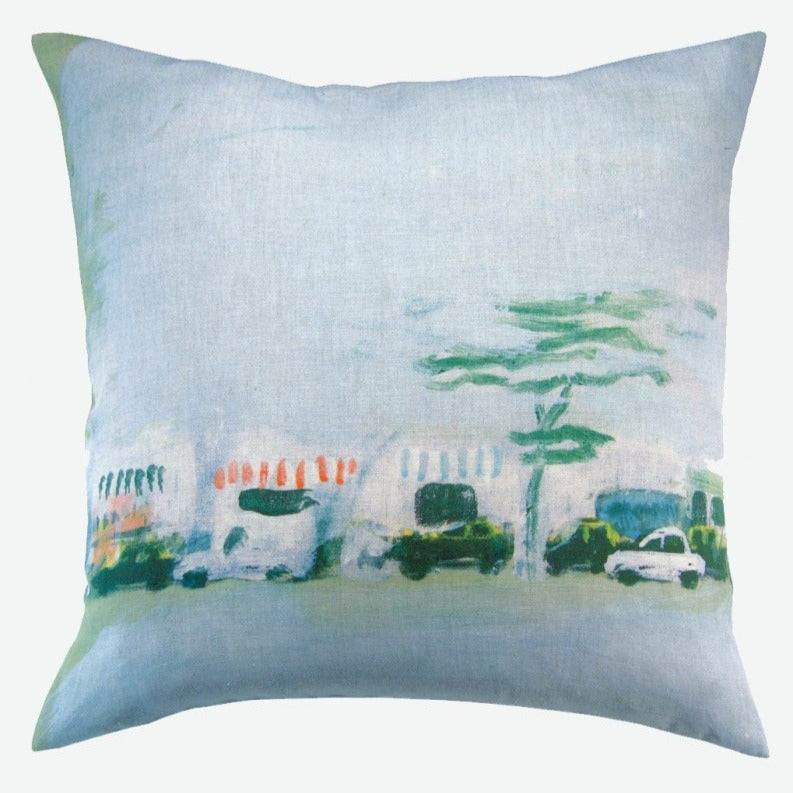 """Horizon urbain"" linen cushion cover square (2 sizes - inner available too)"