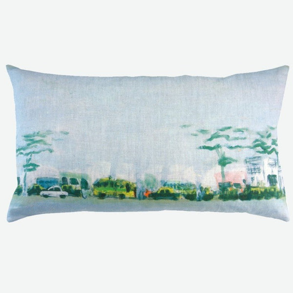 """horizon urbain"" linen cushion cover 50x30cm (inner available too)"