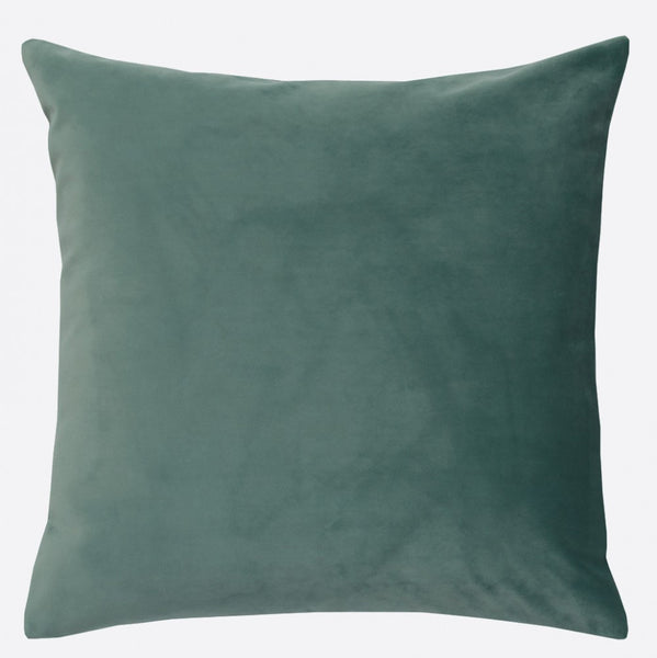 Blue-grey cushion cover in soft velvet and linen tweed  (various sizes, inner available too)