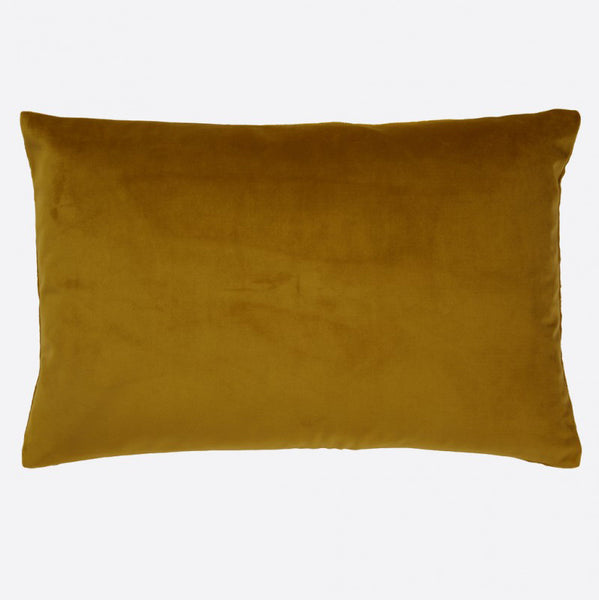 Ochre cushion cover in soft velvet and linen tweed  (various sizes, inner available too)Maison Lévy- Cachette