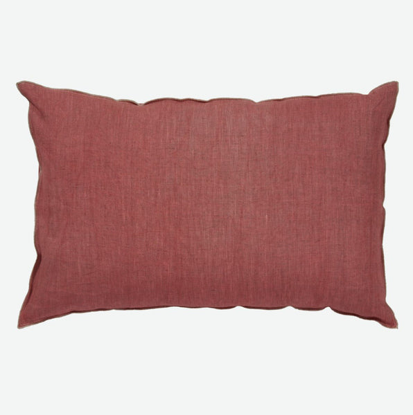 Pink cushion cover in pure linen  (various sizes, inner available too)Maison Lévy- Cachette