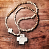 Imperfect cross necklace