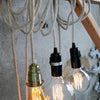 4m long inspection light with striped linen cableUn esprit en plus- Cachette