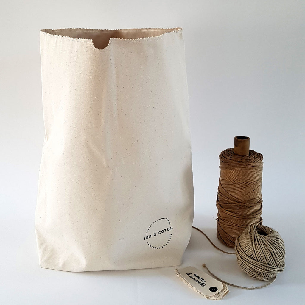 Cotton kraft storage bag 24LLivette la Suissette- Cachette