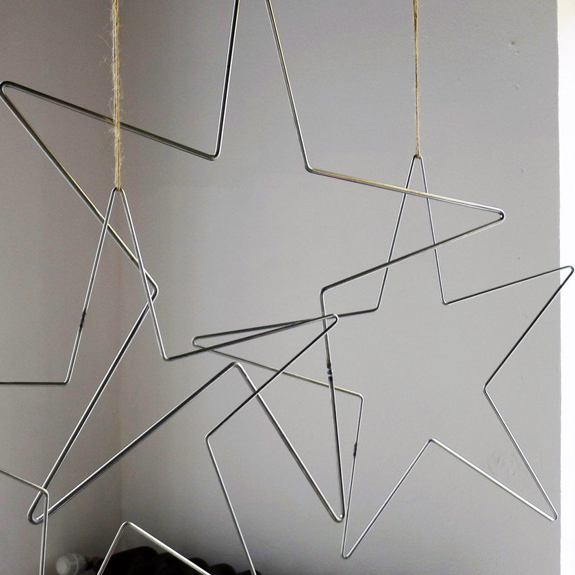 large 65cm metal star