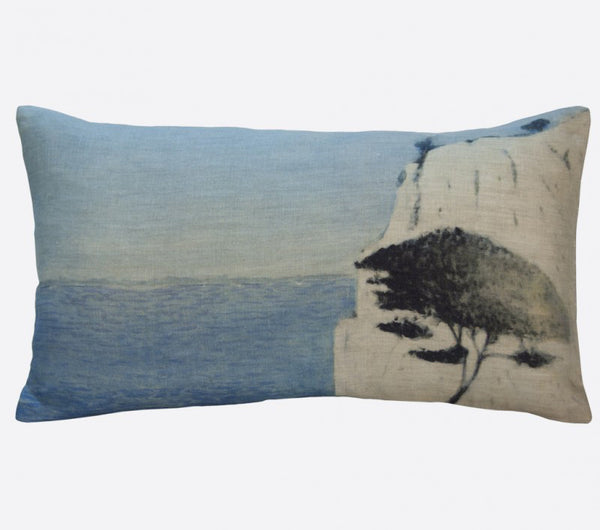 """Roca blanca"" linen cushion cover 50x30cm (inner available too)Maison Lévy- Cachette"