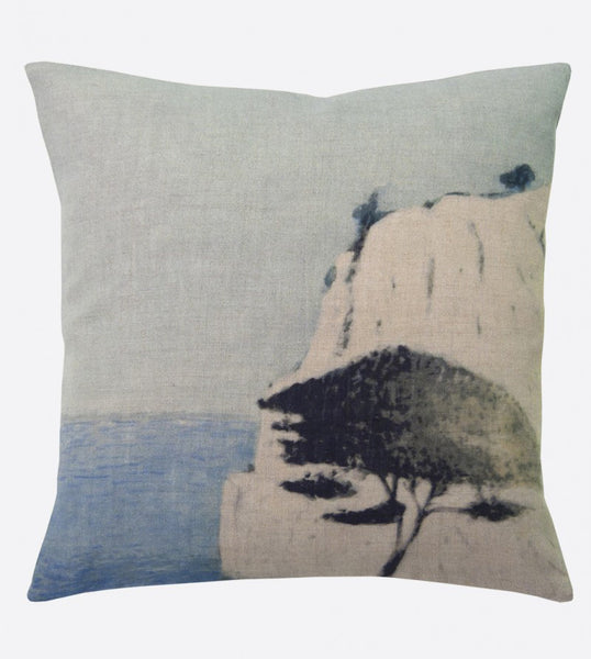 """Roca blanca"" linen cushion cover square (2 sizes - inner available too)Maison Lévy- Cachette"