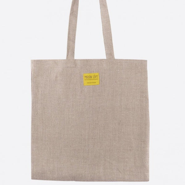 Natural linen tweed tote bag (2 sizes)