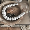 Large clay beads necklace