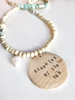 Personalised message summer necklace