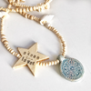 Personalised message star necklace