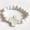 Imperfect cross clay bracelet with FREE engravedMechant Studio- Cachette