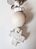 Keys holder with wooden bead and crossMechant Studio- Cachette
