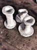 Triplette candle holders in clayMechant Studio- Cachette