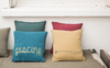 Mini linen cushion 35x35cm with print (18 colours)