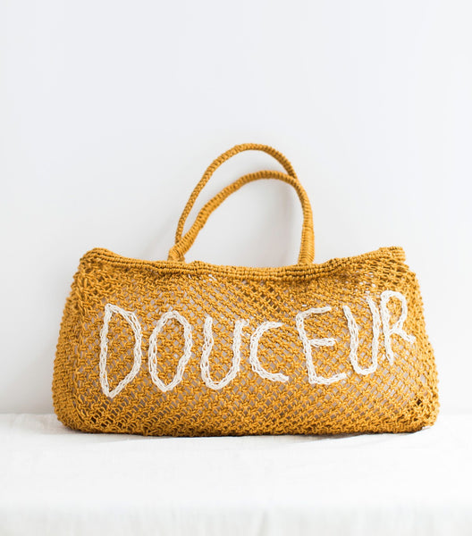 Mustard summer jute bag Douceur