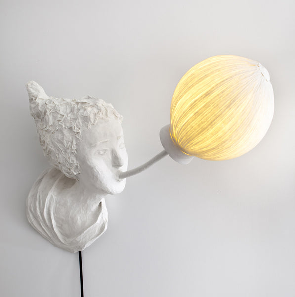 "Sculptural light ""Marie""papier a etre- Cachette"