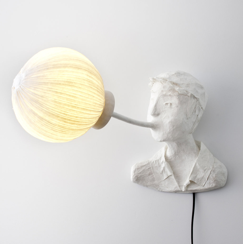 "Sculptural light ""Arnaud""papier a etre- Cachette"