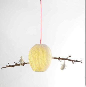 "Sculptural light ""dans les branches"" (request pricing)papier a etre- Cachette"