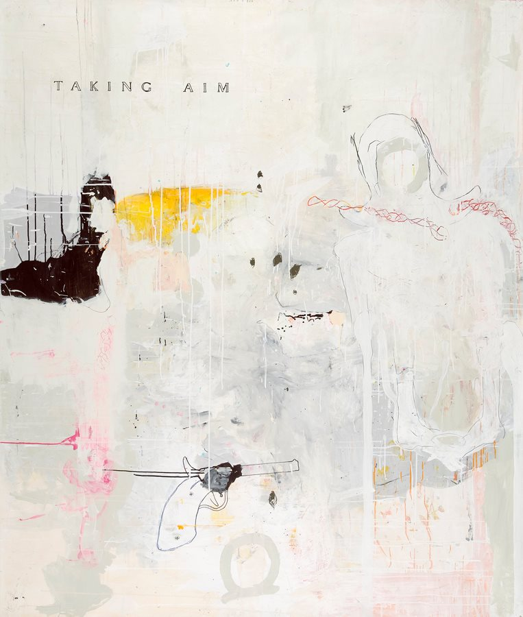 """ taking aim "" (2006) 177 x 147 cm"