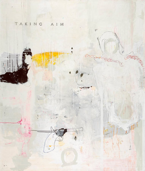 """ taking aim "" (2006) 177 x 147 cmPhilippe Croq- Cachette"
