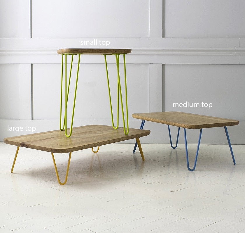 Side table height 60cm - 3 top size optionsBaines and Fricker- Cachette