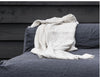 Fringed linen throw 150x180cm (in 9 colours)