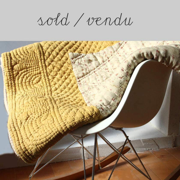 provencal bed throw (SOLD)Vintage- Cachette