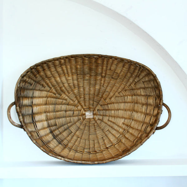 rare wheat basket over 1 meter wide (vintage)Vintage- Cachette