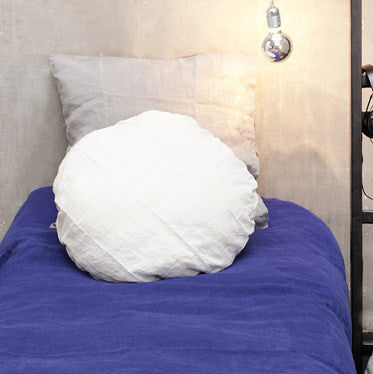 100% linen round linen pillow case (18 colours)bed and philosophy- Cachette
