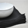 Black napkin in pure linenVDJ- Cachette