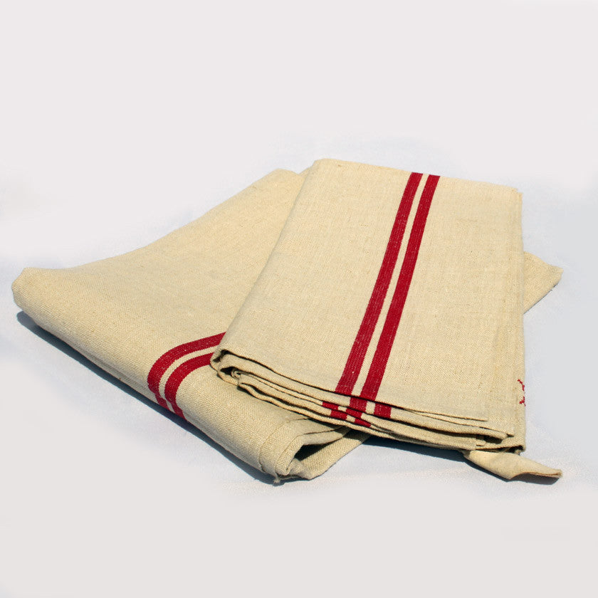 set of 2 very large French linen tea towels (SOLD)
