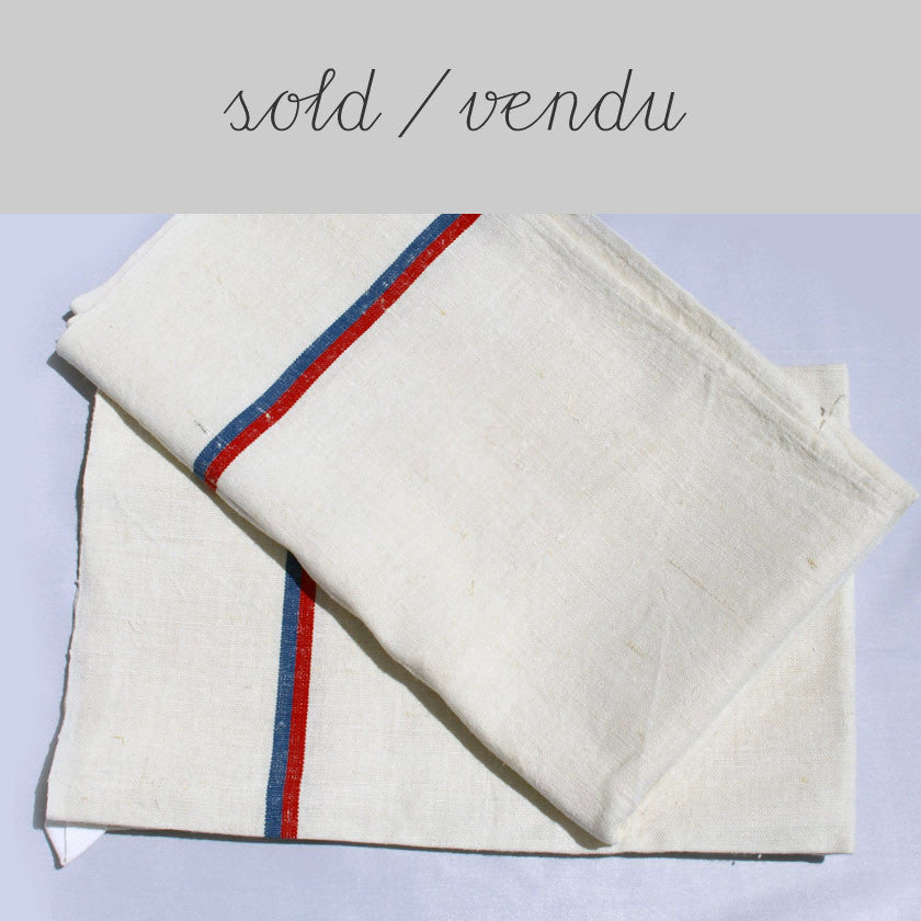 set of 2 French linen tea towels SOLD