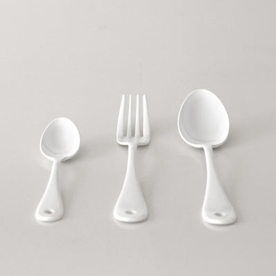 white enamel cutlery (price for 6)