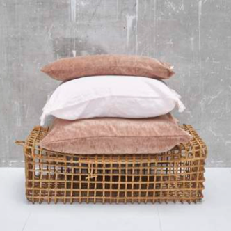Velvet cushion in old pink (three sizes available)bed and philosophy- Cachette