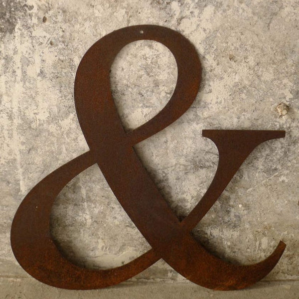 your own custom letters in rusted metal 25cm