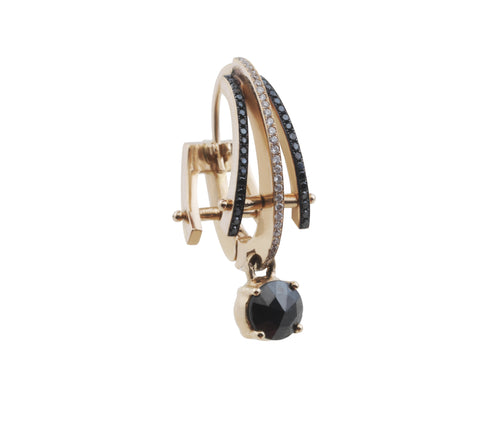 Black Charm Drop Earring