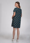 Coconut fox printed dress - שמלת קוקונאט שועלים