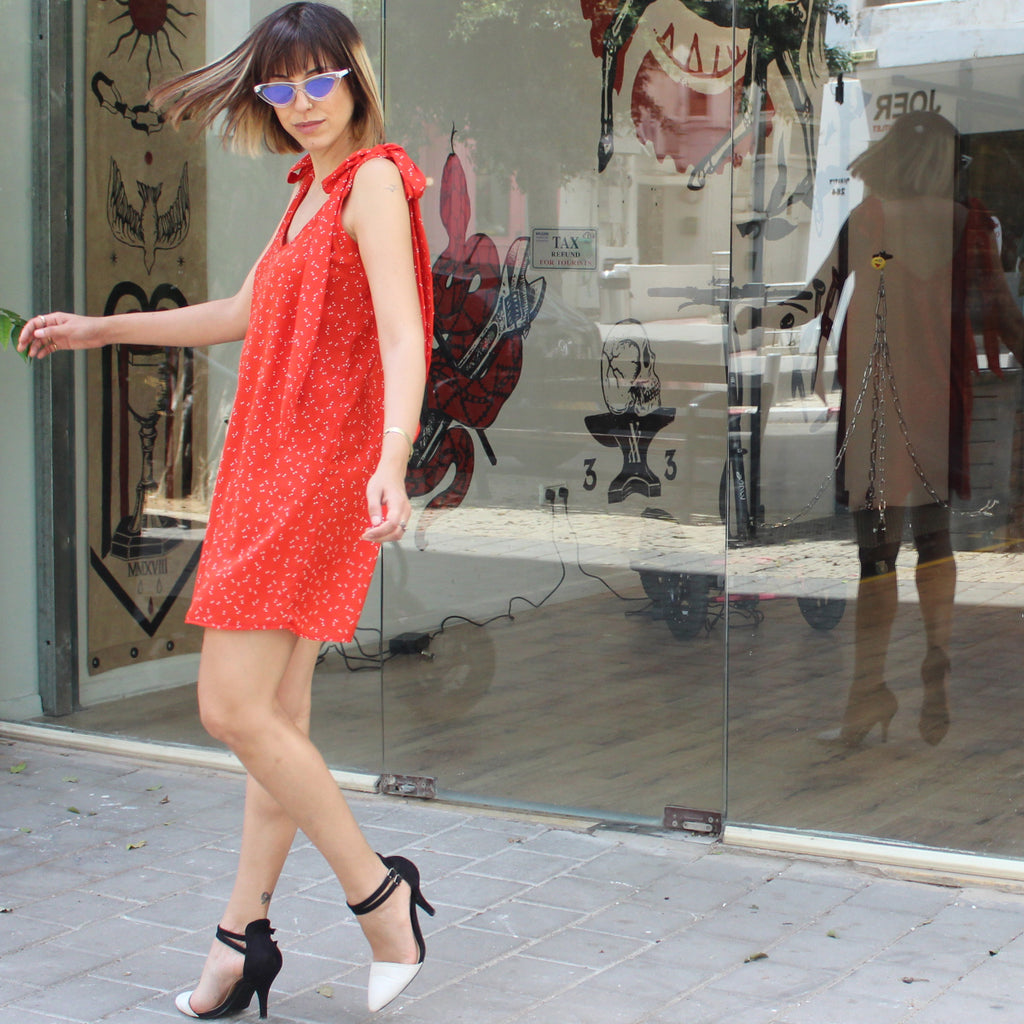 Red butterflies Wonder dress - שמלת פלא פרפרים אדום
