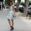 Euphoria light blue floral dress - שמלת אופוריה תכלת פרחוני